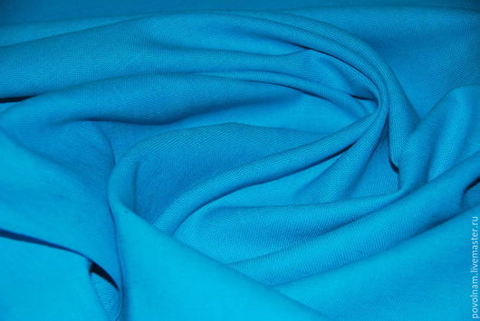"""Шитье ручной работы. Ярмарка Мастеров - ручная работа. Купить ОСТ: 50на100 Лён """"Биюзовый"""" мягкий репс. Handmade. Голубой"""