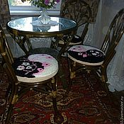 Для дома и интерьера ручной работы. Ярмарка Мастеров - ручная работа Коврик на стул. Handmade.