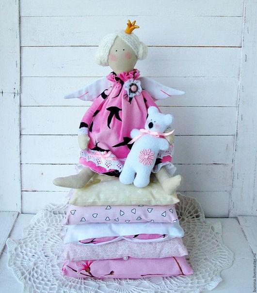 Куклы Тильды ручной работы. Ярмарка Мастеров - ручная работа. Купить Принцесса на горошине. Handmade. Розовый, кукла интерьерная