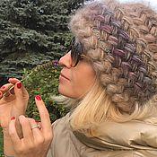 """Аксессуары ручной работы. Ярмарка Мастеров - ручная работа Шапка женская вязаная """"Хризантема"""", шапка из кид-мохера на шёлке. Handmade."""