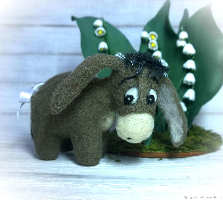 Eeyore. The donkey felt. Toy, Toys, Moscow, Фото №1