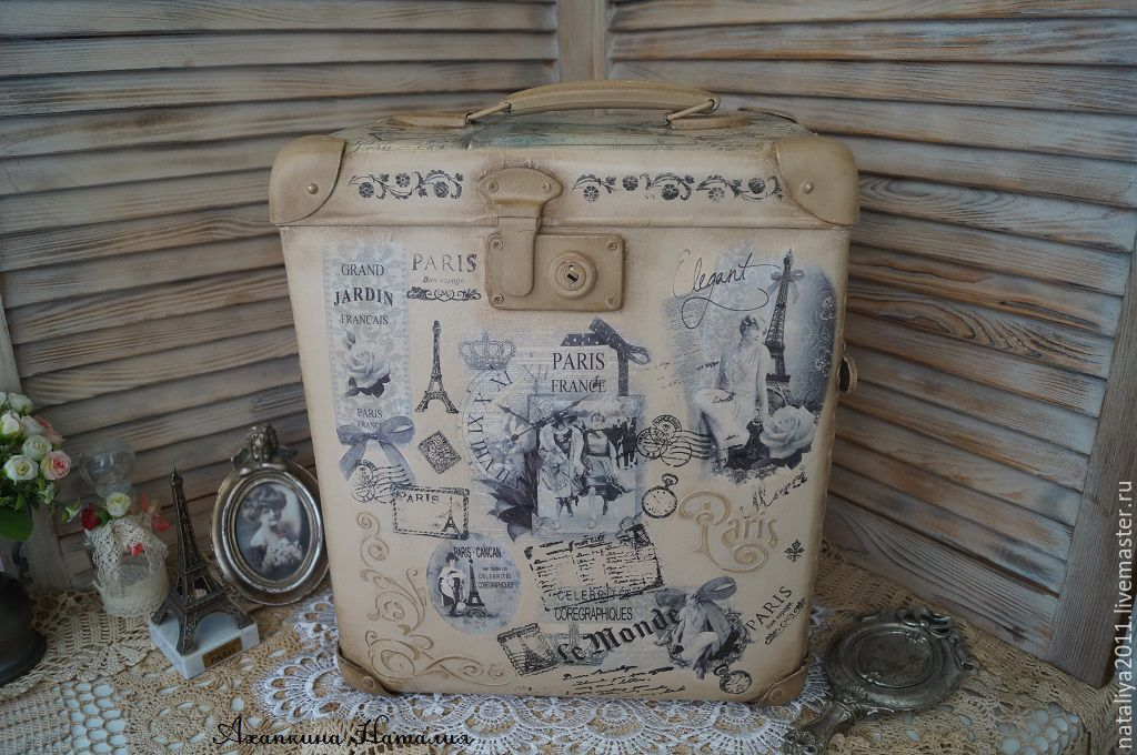 'The return to Paris'-suitcase, Basket, Ruza,  Фото №1