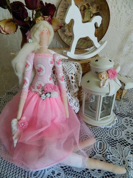 Куклы Тильды ручной работы. Ярмарка Мастеров - ручная работа. Купить Кукла Тильда Весенний Ангел. Handmade. Розовый