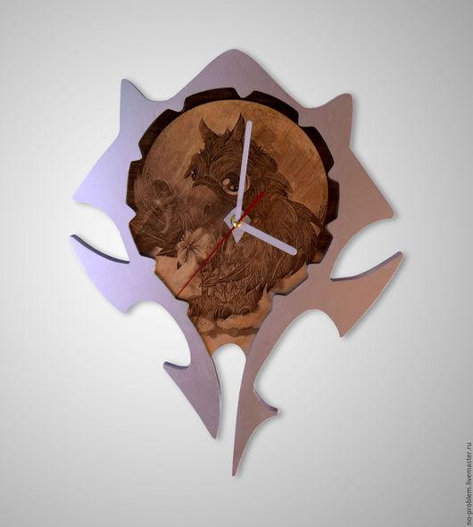 Часы для дома ручной работы. Ярмарка Мастеров - ручная работа. Купить Часы. Handmade. Часы, лак, лазерная гравировка