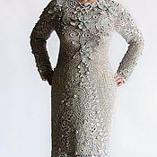 Одежда ручной работы. Ярмарка Мастеров - ручная работа Кружевное платье Серебристые Лотосы. Handmade.