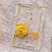 Открытки ручной работы. Ярмарка Мастеров - ручная работа Открытка с розой. Handmade.