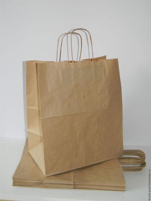 Упаковка ручной работы. Ярмарка Мастеров - ручная работа. Купить Крафт пакет, 45x35x15 см. Handmade. Коричневый, крафт упаковка