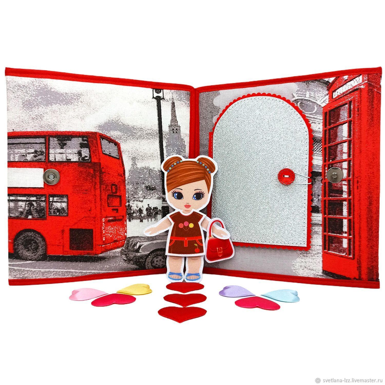 Развивающая книжка Кукольный домик Кукла из фетра Подарок девочке, Кукольные домики, Подольск,  Фото №1