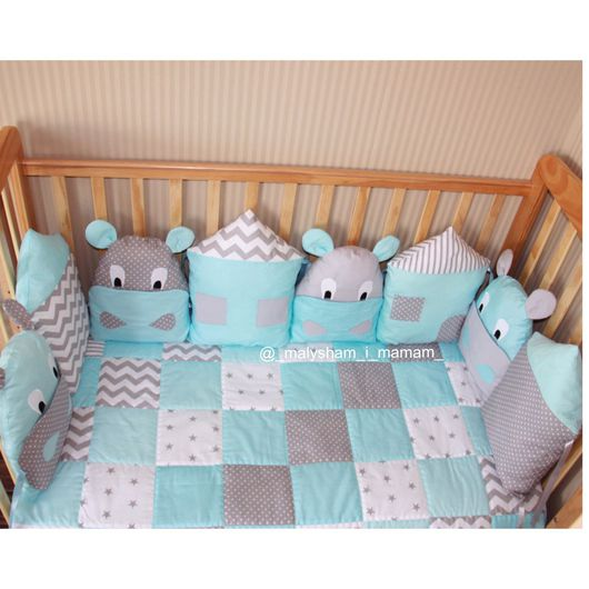 Детская ручной работы. Ярмарка Мастеров - ручная работа. Купить Бортики подушки в детскую кровать. Handmade. Бортики, бортики подушки