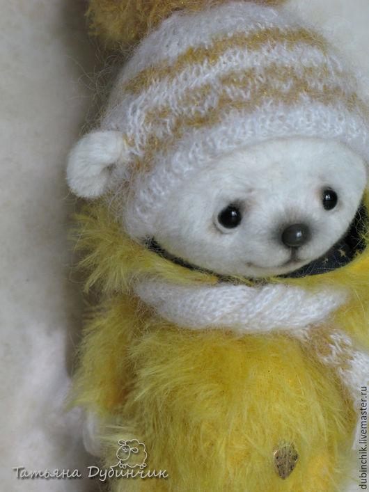 Мишки Тедди ручной работы. Ярмарка Мастеров - ручная работа. Купить Sunny - солнечный мишка. Handmade. Желтый, мохер Германия