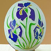 """Подарки к праздникам ручной работы. Ярмарка Мастеров - ручная работа """"Цветы"""" на страусином яйце. Handmade."""