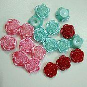 Материалы для творчества handmade. Livemaster - original item Cabochons Roses mother of pearl 12 mm 3 colors. Handmade.