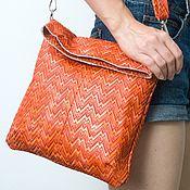 Сумки и аксессуары handmade. Livemaster - original item Shoulder bag, genuine leather, on the belt.. Handmade.