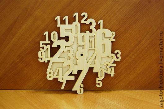 Часы Цифры (продаются в разобранном виде) Размер: 30х30 см Материал: фанера 3 мм
