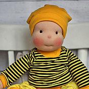 Куклы и игрушки ручной работы. Ярмарка Мастеров - ручная работа ПЧЁЛКА МАЙЯ 52 см  - кукла вальдорфская игровая для ребенка. Handmade.
