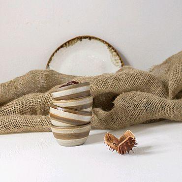 Посуда ручной работы. Ярмарка Мастеров - ручная работа Соусник полосатый на 50 мл. Handmade.