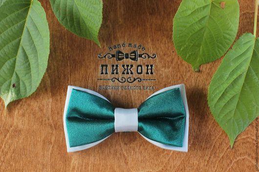 Галстуки, бабочки ручной работы. Ярмарка Мастеров - ручная работа. Купить галстук-бабочка. Handmade. Тёмно-зелёный, серебряный, бабочки