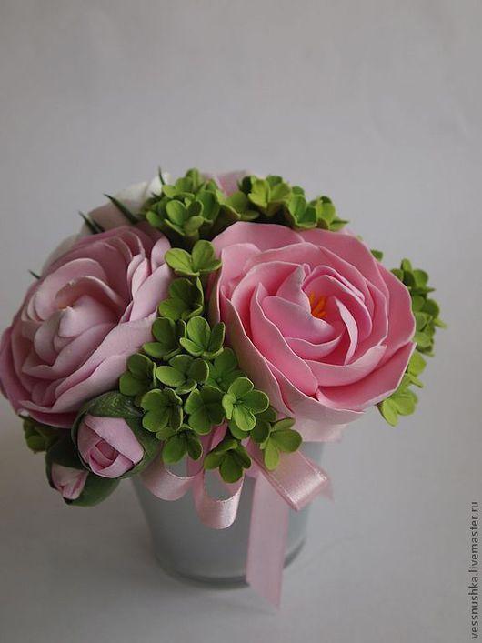 Комплекты аксессуаров ручной работы. Ярмарка Мастеров - ручная работа. Купить Цветочная композиция Нежность. Handmade. Розовый