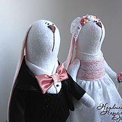 Куклы и игрушки ручной работы. Ярмарка Мастеров - ручная работа интерьерные куклы-зайцы. Handmade.