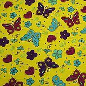 Материалы для творчества ручной работы. Ярмарка Мастеров - ручная работа Кулирная гладь Бабочки на желтом. Handmade.