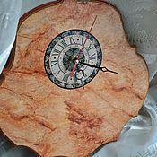 Для дома и интерьера ручной работы. Ярмарка Мастеров - ручная работа Часы настенные Розовый мрамор. Handmade.
