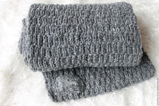 Шарфы и шарфики ручной работы. Ярмарка Мастеров - ручная работа. Купить серый шарф, шарф мужской, шарф женский,шарф твидовый длинный. Handmade.
