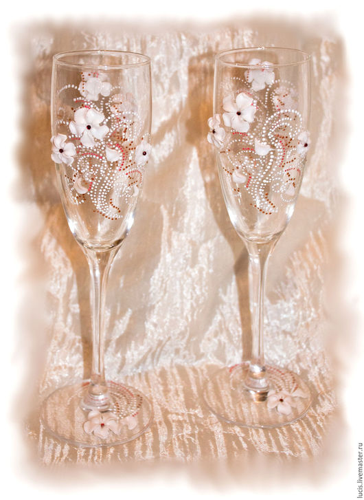 Бокалы, стаканы ручной работы. Ярмарка Мастеров - ручная работа. Купить Праздничные бокалы. Handmade. Комбинированный, полимерная глина, Праздник