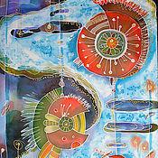 """Картины и панно ручной работы. Ярмарка Мастеров - ручная работа """"Космические цветы"""". Handmade."""