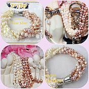 Украшения handmade. Livemaster - original item Bracelet Lavender-Lily of the valley pearl Baroque. Freshwater pearl. Handmade.
