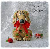 Куклы и игрушки ручной работы. Ярмарка Мастеров - ручная работа Собака Такса ароматизированная .. Handmade.