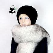 Аксессуары handmade. Livemaster - original item Luxury scarf boa fur Finnish Voile Arctic Fox VN-3. Handmade.