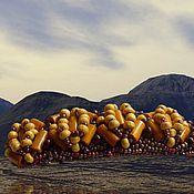 """Украшения ручной работы. Ярмарка Мастеров - ручная работа Заколка """"Лесной орех"""". Handmade."""