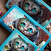 """Кошельки ручной работы. Ярмарка Мастеров - ручная работа Кошельки с картинкой""""Чеширский кот"""" разный размер. Handmade."""