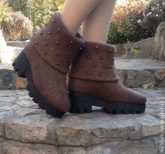 валяная обувь, валяные сапоги, демисезонная обувь