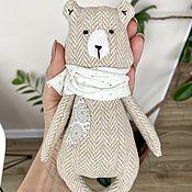 Куклы и игрушки handmade. Livemaster - original item Teddy bear made of beige tweed - a soft toy. Handmade.