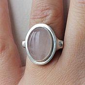 Украшения handmade. Livemaster - original item Unit ring-rose quartz, 925 silver. Handmade.