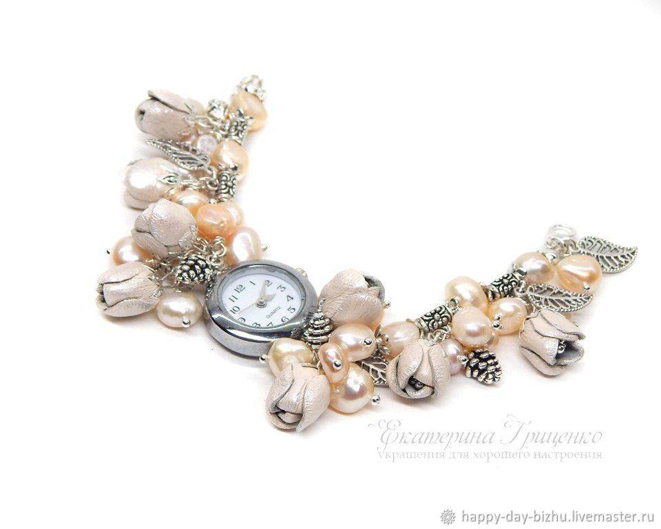 Bracelet Watch Wrist Women S With Pearls заказать на Ярмарке Мастеров Fefbbcom Часы наручные Cheboksary