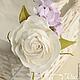 Диадемы, обручи ручной работы. Ярмарка Мастеров - ручная работа. Купить Ободок с цветами (роза и гортензии). Handmade. Сиреневый