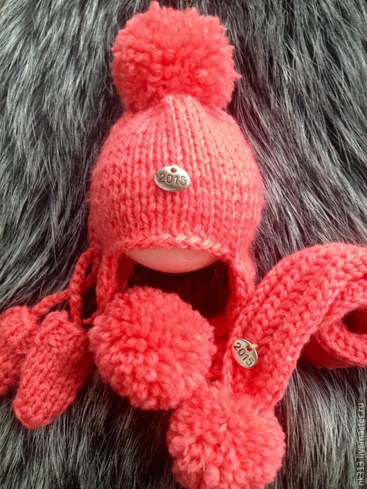 """Одежда для кукол ручной работы. Ярмарка Мастеров - ручная работа. Купить Комплект """"Коралл"""". Одежда для кукол.. Handmade. Коралловый, шапка"""