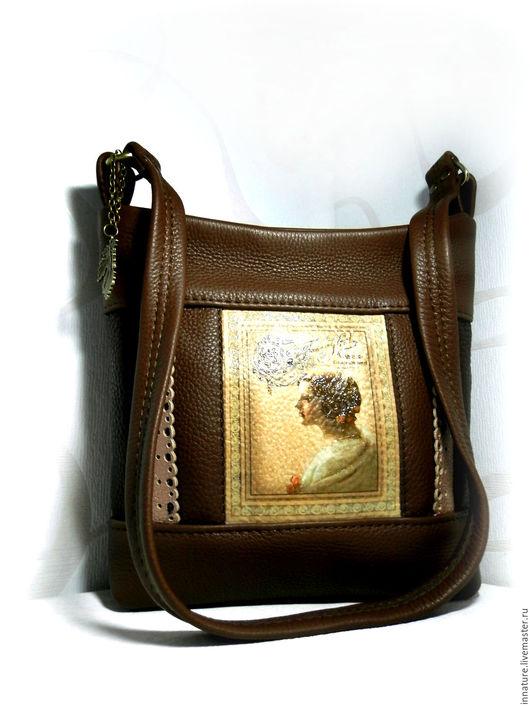 Женские сумки ручной работы. Ярмарка Мастеров - ручная работа. Купить резерв Сумка в винтажном стиле, натуральная кожа «Шоколадница». Handmade.