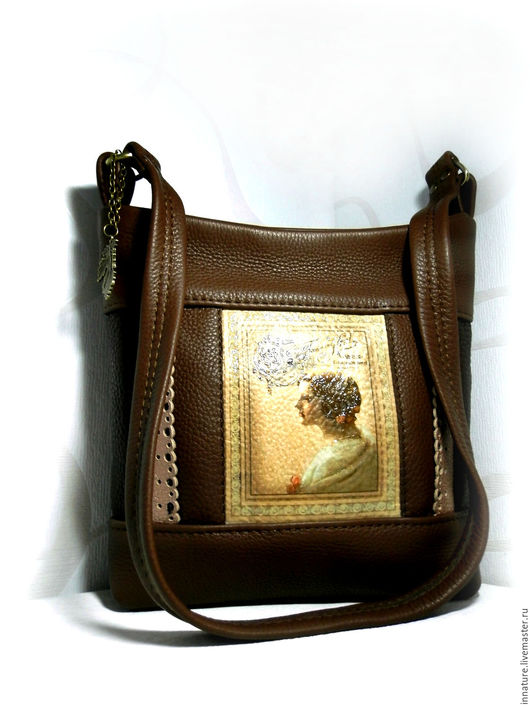 Женские сумки ручной работы. Ярмарка Мастеров - ручная работа. Купить Сумка в винтажном стиле, натуральная кожа «Шоколадница». Handmade.