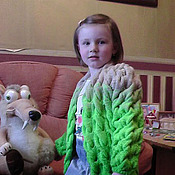 Работы для детей, handmade. Livemaster - original item Children cardigan for girl 4-5 years. Handmade.