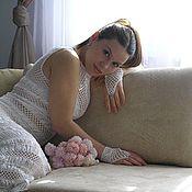 Свадебный салон ручной работы. Ярмарка Мастеров - ручная работа Вязаное крючком свадебное платье «Сияние». Handmade.