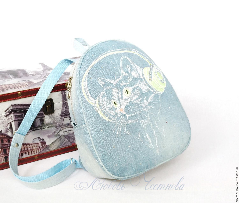 Copy of Copy of Backpack denim female Owl, Backpacks, Kostroma,  Фото №1