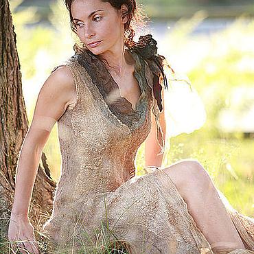 """Одежда ручной работы. Ярмарка Мастеров - ручная работа платье ручной работы """"цвет полыни"""". Handmade."""