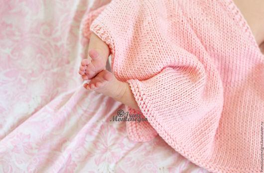 Для новорожденных, ручной работы. Ярмарка Мастеров - ручная работа. Купить нежный плед и чепчик для фотосессии новорожденных. Handmade. Нежность