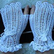 Аксессуары handmade. Livemaster - original item Fishnet fingerless gloves summer cotton Lady driver. Handmade.