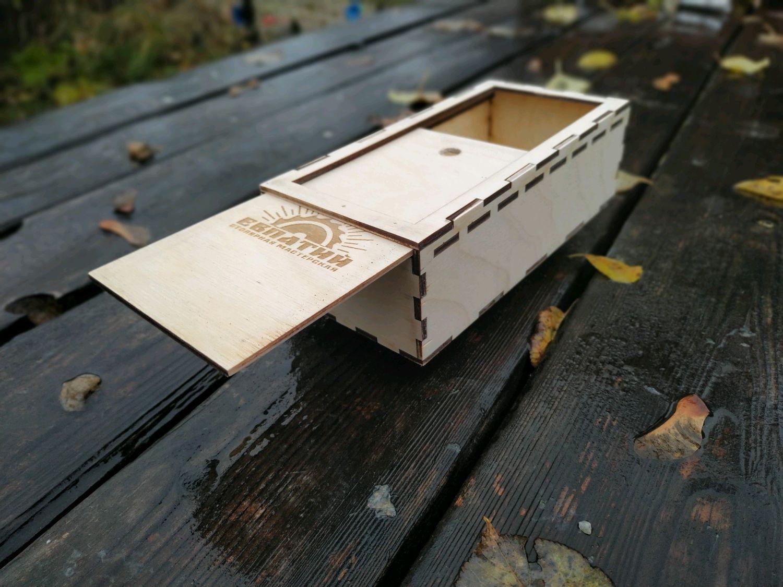 Коробка-пенал 01: Подарочная коробка Пенал (упаковка) из фанеры, Коробки, Кольчугино,  Фото №1