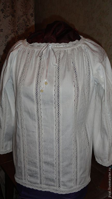 Блузки ручной работы. Ярмарка Мастеров - ручная работа. Купить блуза женская. Handmade. Белый, кружево, ткань хлопок
