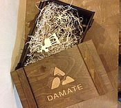 Упаковка ручной работы. Ярмарка Мастеров - ручная работа Ящик подарочный морилка + гравировка. Handmade.